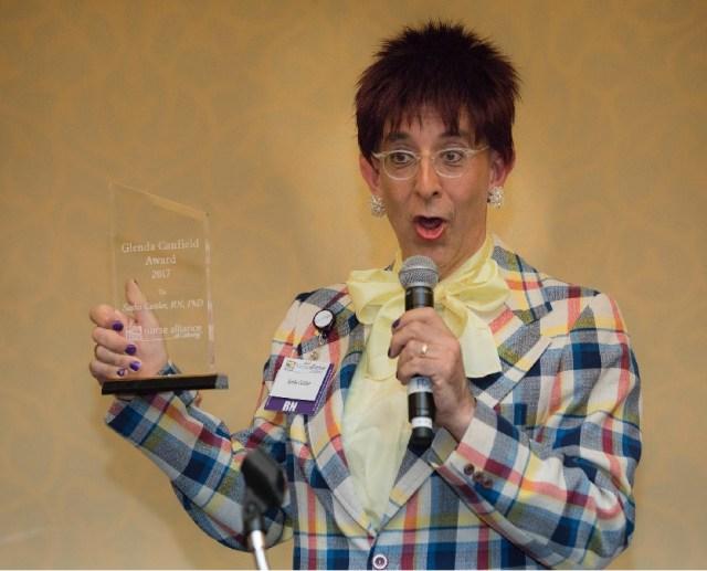 Nurse Sasha Cuttler with a recent award
