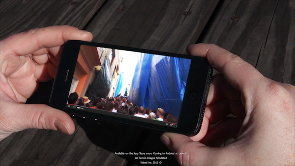 Person watching video on Vidwal