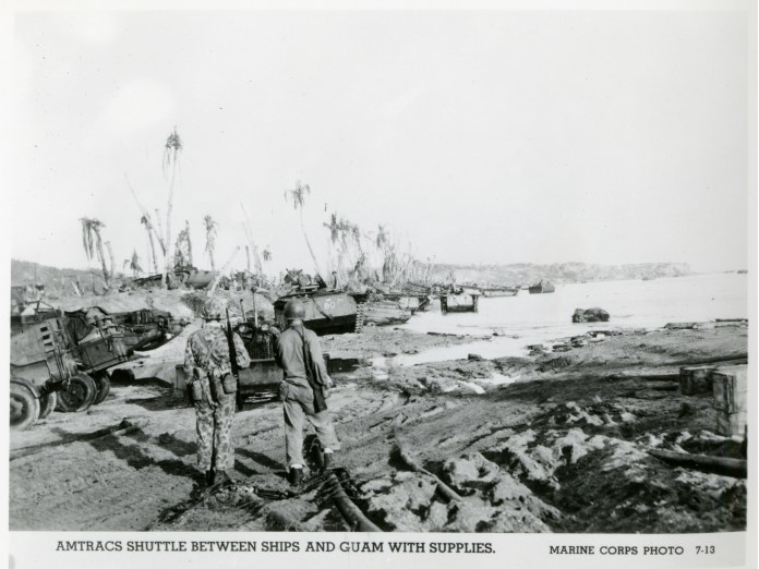 American LVTs lined up on beach, Guam, 1944 | The Digital Collections of  the National WWII Museum : Oral Histories