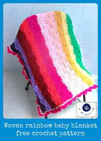 Woven rainbow baby blanket - The Yarn Box The Yarn Box