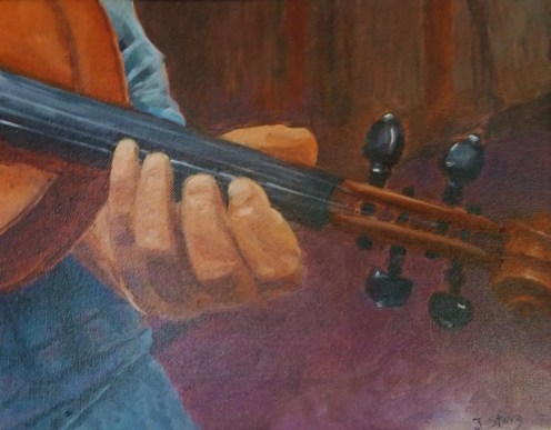 Hands on Series #1 by Jane Story, oil