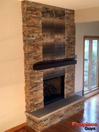 Magnificent Metal Mantel - The Fireplace Guys
