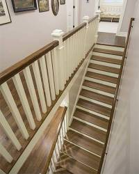 A New Staircase and Railing Shows Off Quartersawn Oak ...