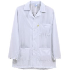 White Lightweight Plus ESD Smock