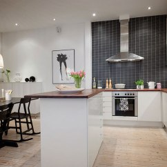 Kitchen Tables Austin Counter Resurfacing Contemporary Open Floor Plan Apartment In Stockholm ...