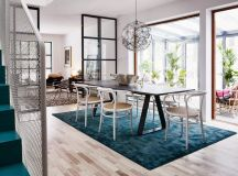 Scandinavian Style Interior with Turquoise Blue Accents ...