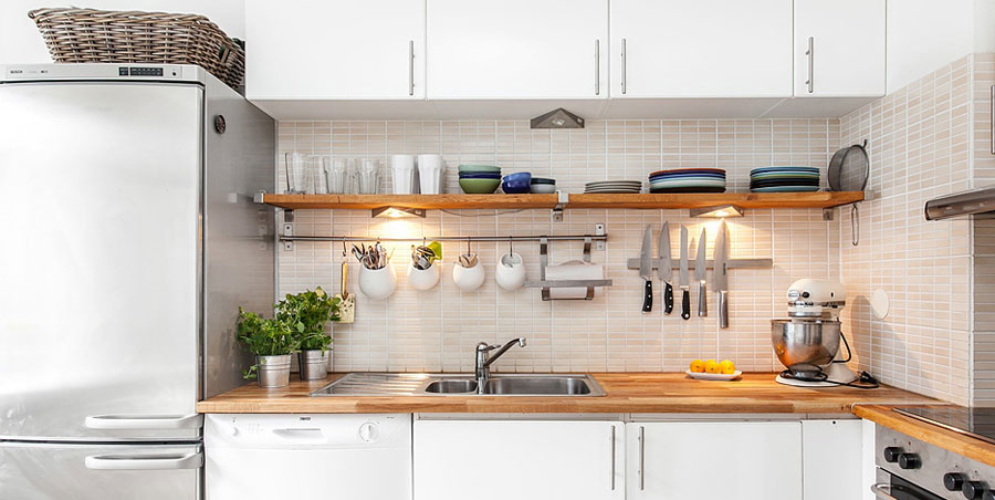 corner kitchen cupboard ideas costco aid mixer swedish style interior decorated with ikea furniture and ...