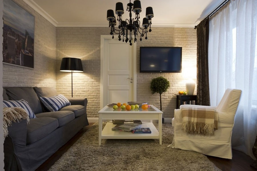 Calm European Interior Design For Small Apartment In Moscow