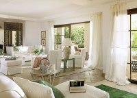 Harmonious Holiday Home Interior Design with Touches of Green