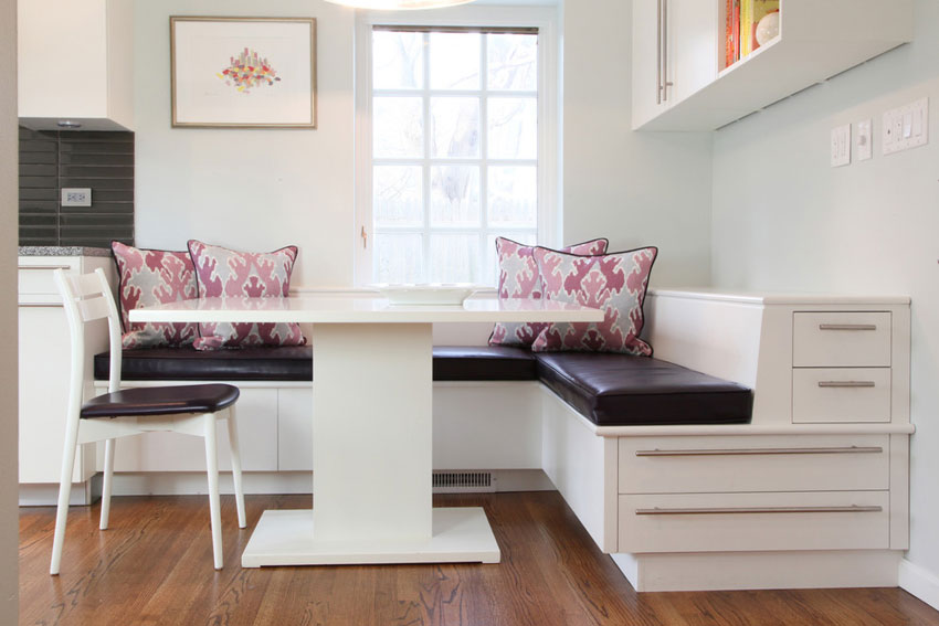 corner bench seating for kitchen free standing shelves 50 charming interior ideas