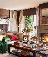 Sunny Spanish Interior Design with Gorgeous Garden View
