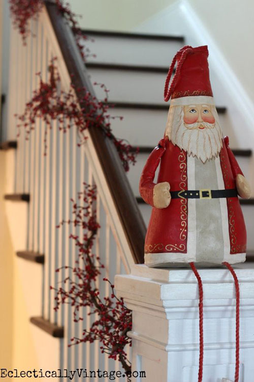 40 Brilliant Christmas Stairs Decorations For 2014 Year