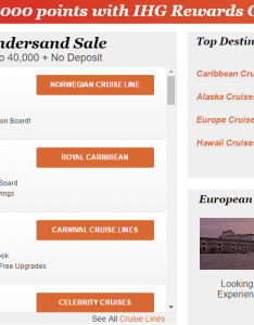 Ihg rewards club cruise and earn also best ways to lots of points rh upgradedpoints