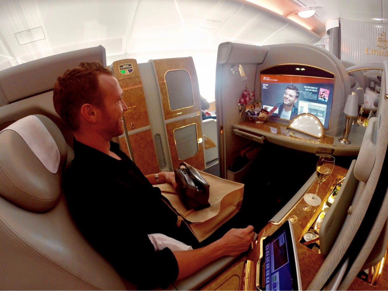 wheelchair emirates black dining chairs uk a380 first class review dubai to los angeles 2019