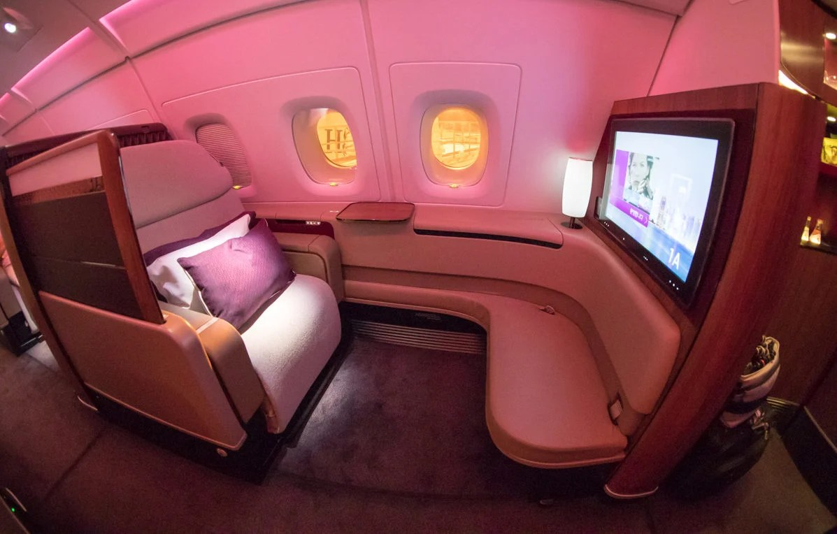 hanging chair qatar ijoy massage airways a380 first class review sydney to doha in depth seat