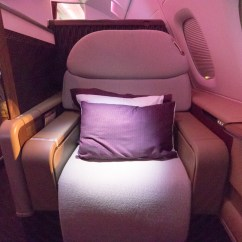 Hanging Chair Qatar Foldable Chairs With Cushions Airways A380 First Class Review Sydney To Doha In Depth You Ll See A Limited Use Of Gold Unlike The Cabin One S Middle Eastern Neighbors