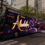 Disney Aladdin bus in NYC