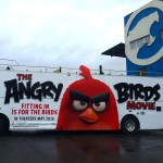 The Angry Birds Movie Red bus at our Carisma shop - Brooklyn NY