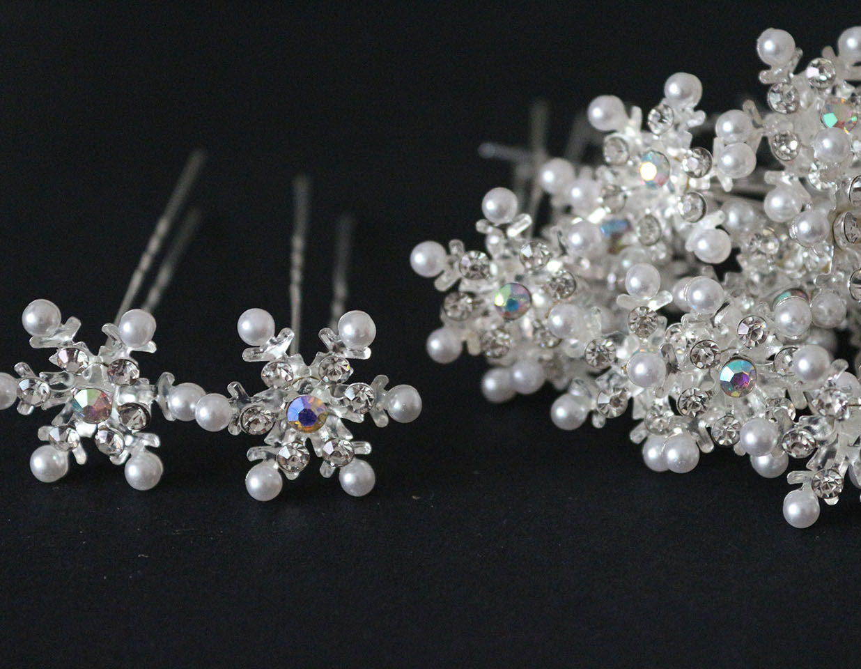 Crystal Snowflake Hair Accessories Items Similar To