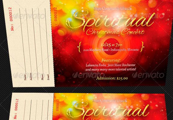 Spiritual-Christmas-Concert-Ticket-Template