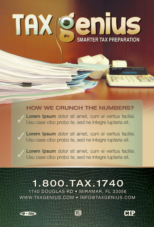 FREE Genius Tax Flyer and Postcard Template