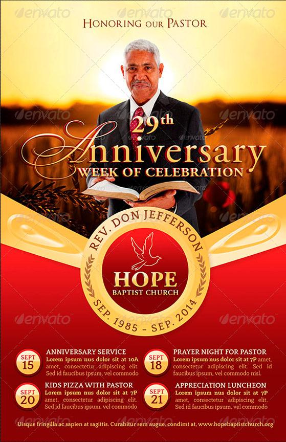 Pastor Appreciation Flyer Templates | Four C Graphic