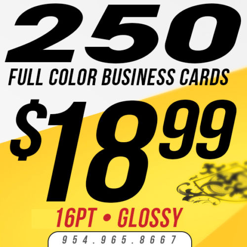 250 Custom Business Cards Printing - 16pt - Glossy (UV Coated)