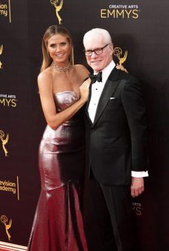Heidi Klum and Tim Gunn Emmy's Creative Arts 2017 Red Carpet 4Chion LIfestyle