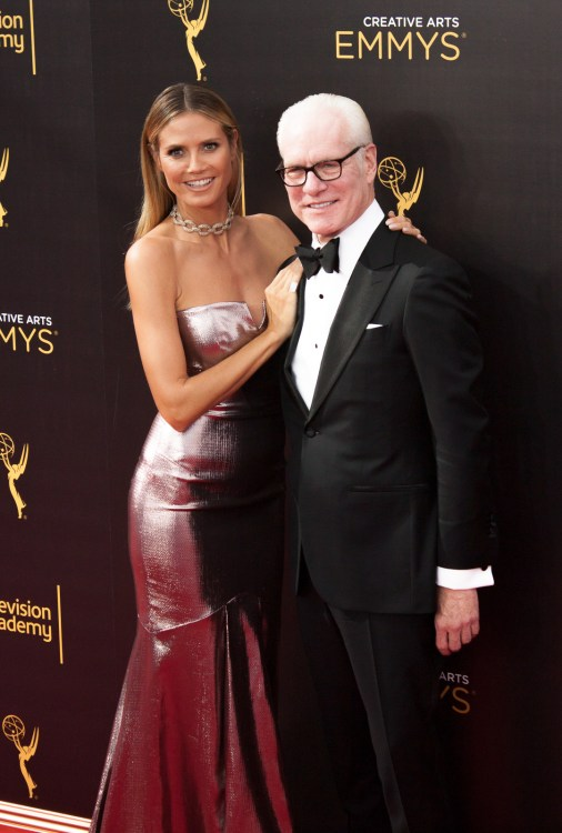 Heidi Klum and Tim Gunn Emmy's Creative Arts 2016 Red Carpet 4Chion LIfestyle 70th Emmys®