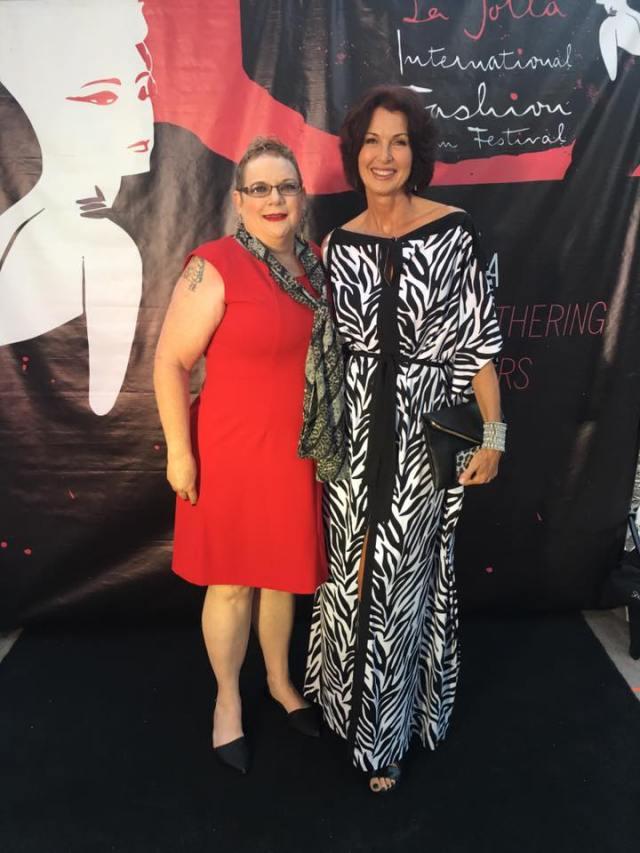 Lorelei Shellist and Tammy Forchion at La Jolla Fashion Film Festival 4Chion Lifestyle