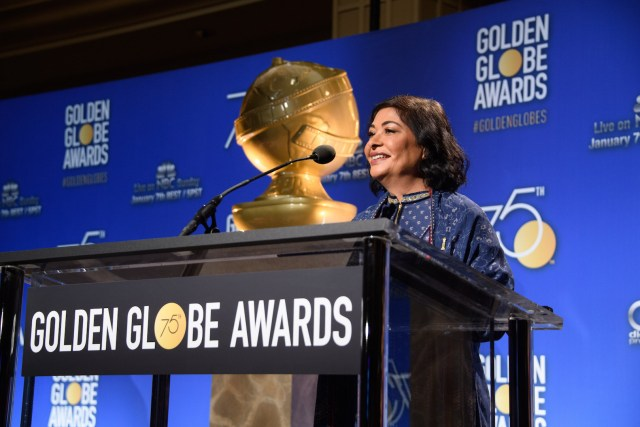 President, Meher Tatna at the 75th annual Golden Globe Awards nominations 4chion lifestyle