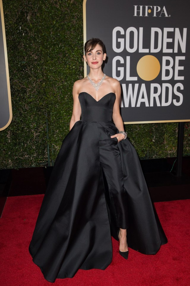 Alison Brie arrives at the 75th Annual Golden Globe Awards 4Chion Lifestyle