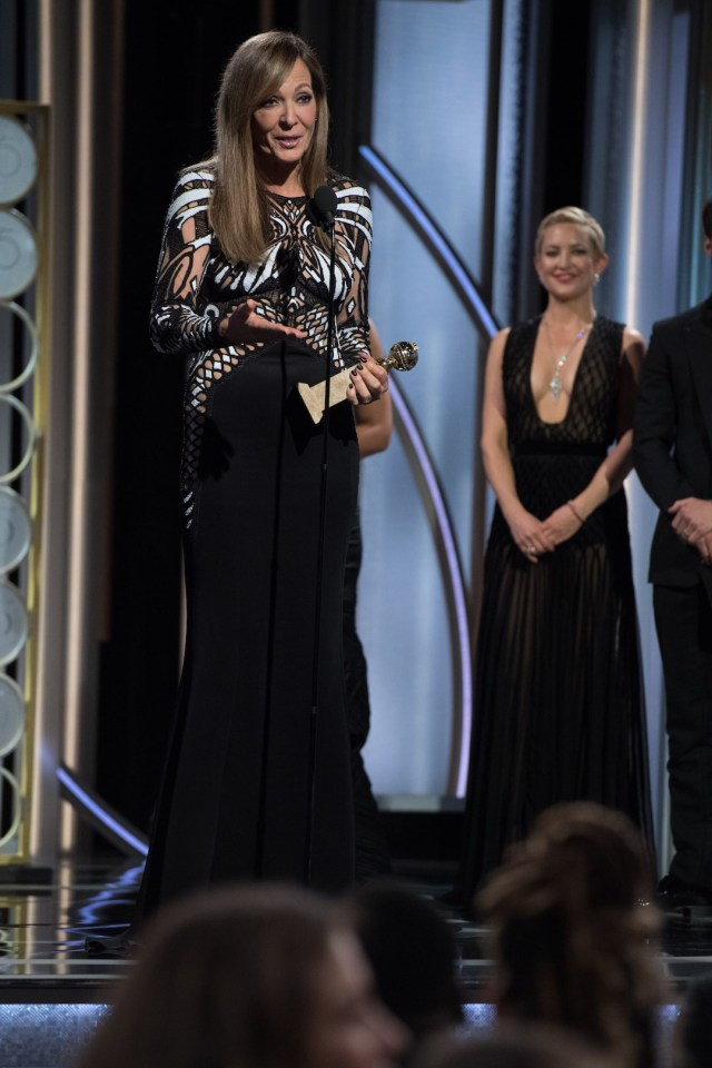 Allison Janney accepts the Golden Globe Award 75th Annual Golden Globe Awards 4chion lifestyle