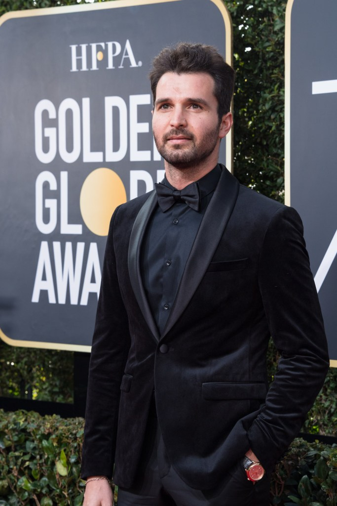 Andrea Iervolino arrives at the 75th Annual Golden Globe Awards 4chion lifestyle