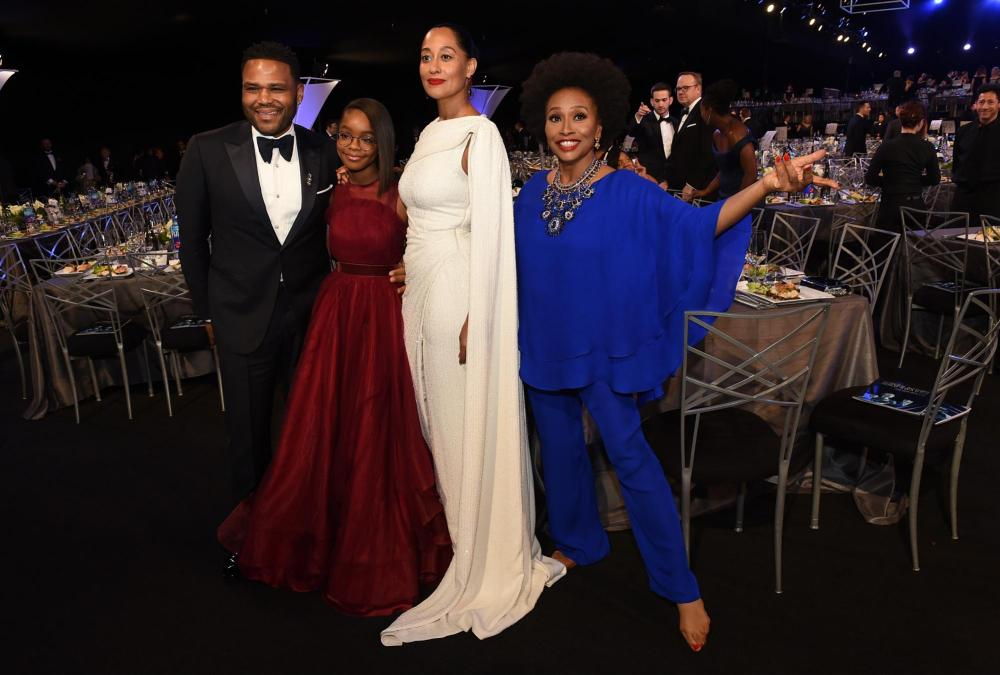 Anthony Anderson, Marsai Martin, Tracee Ellis Ross, and Jenifer Lewis Blackish SAG Awards