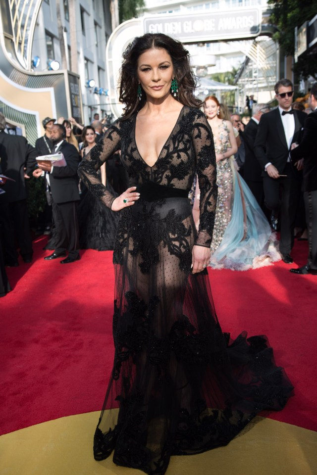 Catherine Zeta-Jones attends the 75th Annual Golden Globes Awards 4chion lifestyle