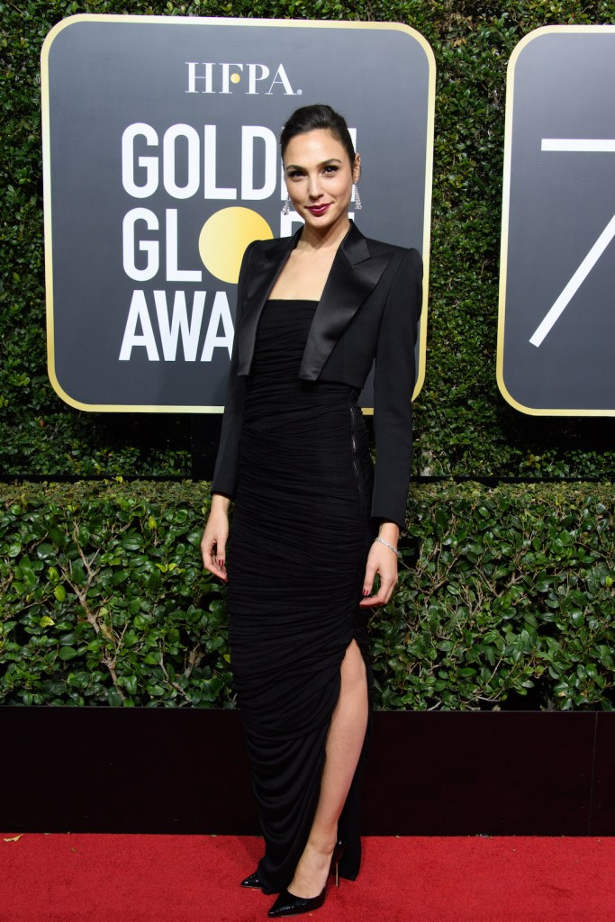 Gal Gadot arrives at the 75th Annual Golden Globe Awards 4chion lifestyle
