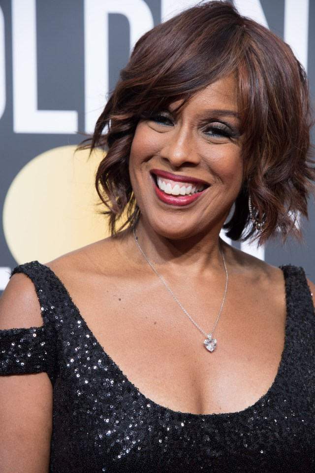 Gayle King attends the 75th Annual Golden Globes Awards 4chion lifestyle
