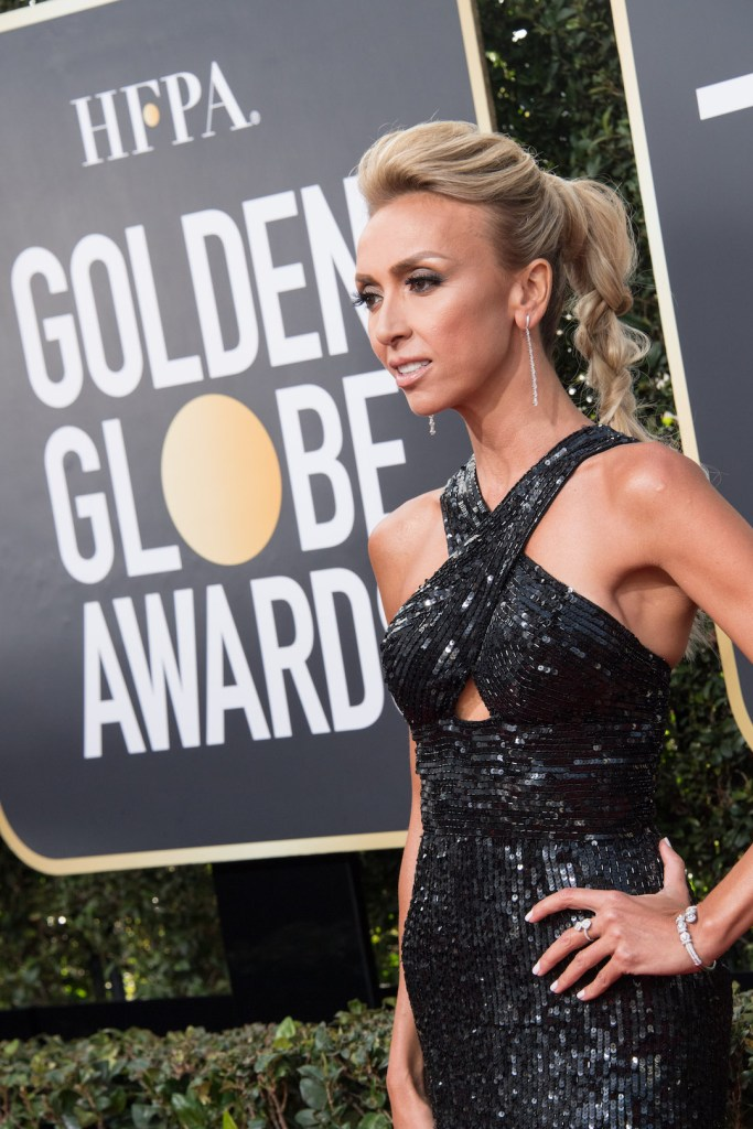Giuliana Rancic arrives at the 75th Annual Golden Globe Awards 4chion lifestyle