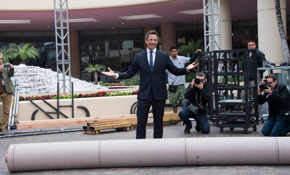 Golden Globe host Seth Meyers rolling out the Red Carpet for the 75th Golden Globe Awards Photo Magnus Sundhom for the HFPA. 4chion lifestyle