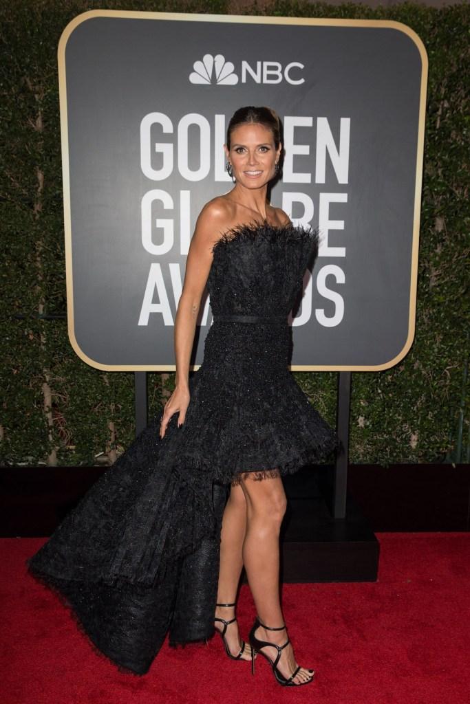 Heidi Klum arrives at the 75th Annual Golden Globe Awards 4chion lifestyle