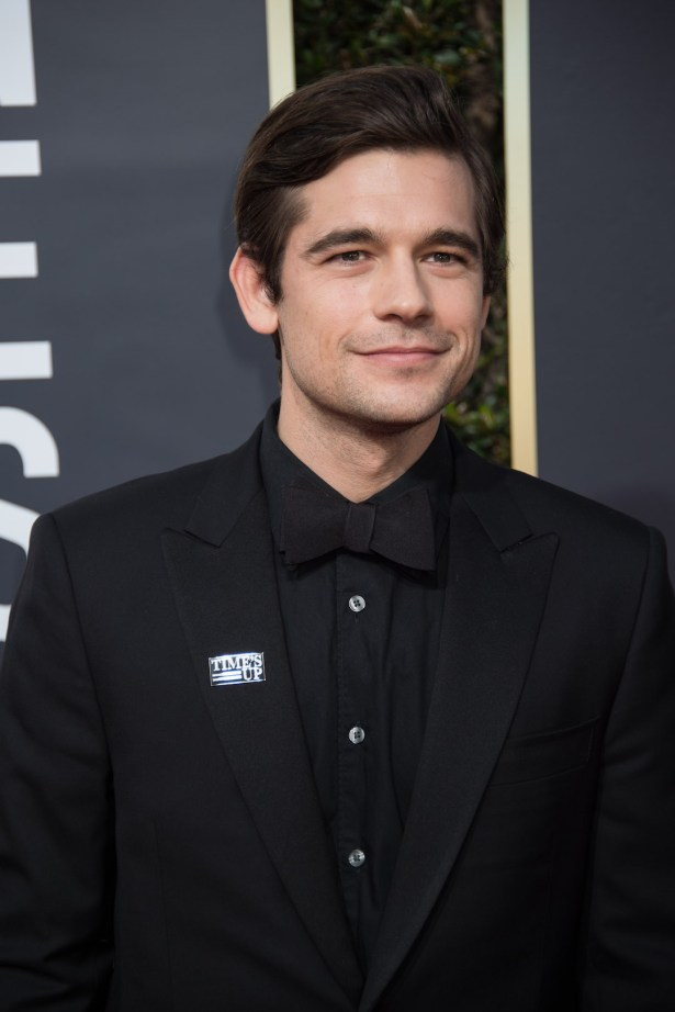 Jason Ralph arrives at the 75th Annual Golden Globe Awards 4chion lifestyle red carpet