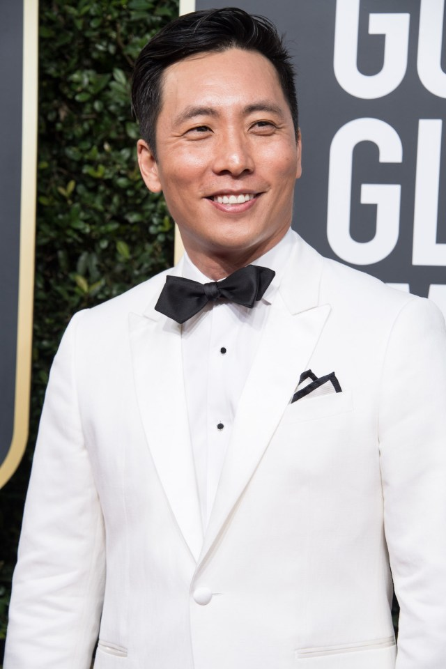 Actor Kelvin Yu attends the 75th Annual Golden Globes Awards red carpet 4chion lifestyle
