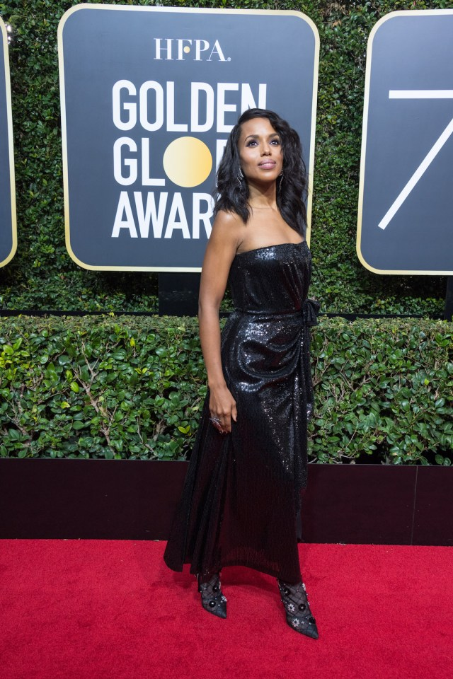 Kerry Washington attends the 75th Annual Golden Globes Awards 4chion lifestyle