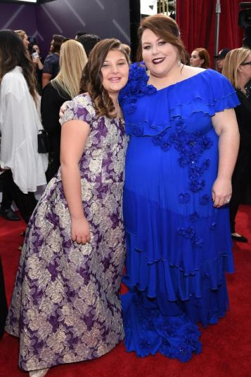 Mackenzie Hancsicsak (L) and Chrissy Metz red carpet SAG Awards 4Chion Lifestyle