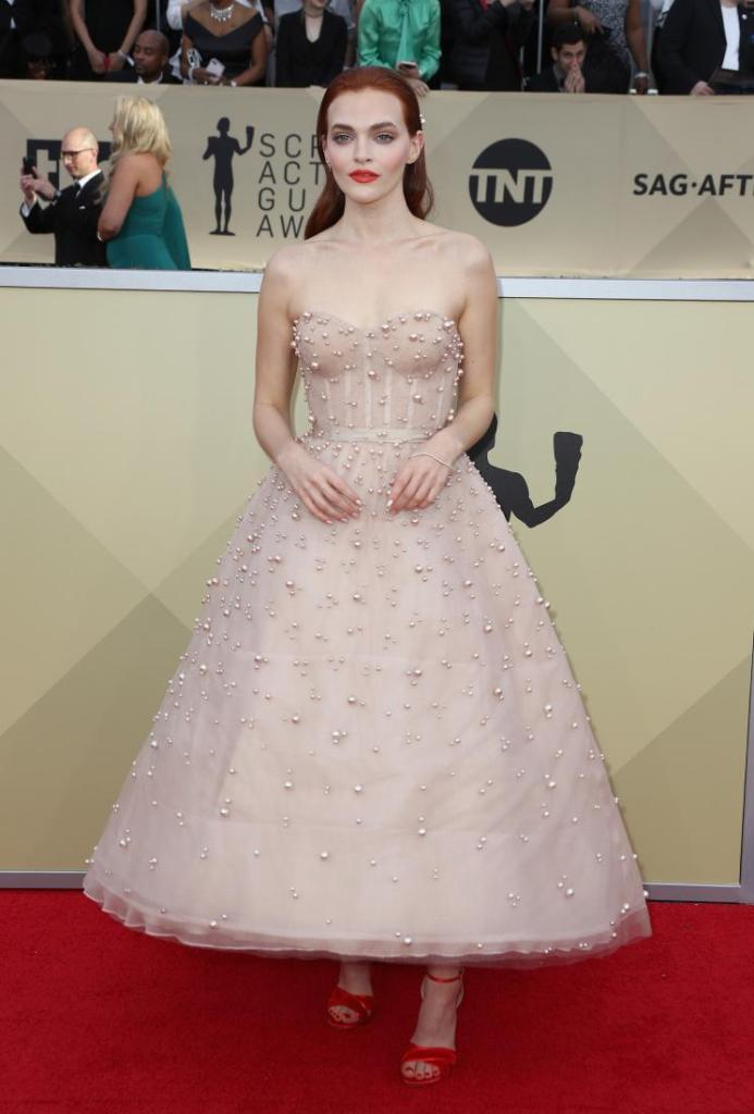 Madeline Brewer red carpet SAG Awards 4Chion Lifestyle