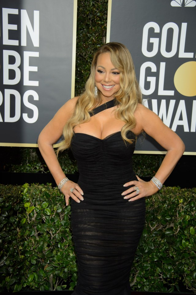Mariah Carey arrives at the 75th Annual Golden Globe Awards 4chion lifestyle