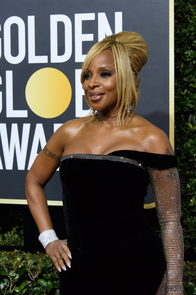 Mary J. Blige arrives at the 75th Annual Golden Globe Awards 4chion lfiestyle