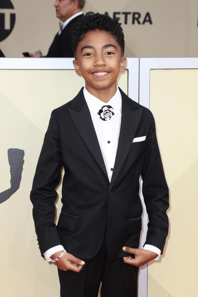 Miles Brown blackish red carpet SAG Awards 4Chion Lifestyle