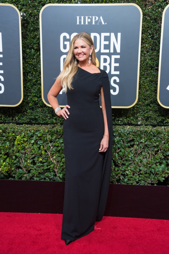 Nancy O'Dell attends the 75th Annual Golden Globes Awards 4chion lifestyle